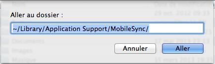 Aller au dossier MobileSync